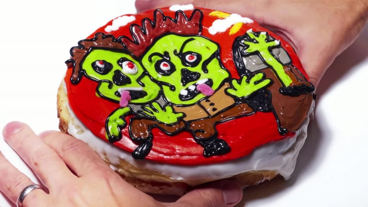 Kick back for the premiere of The Walking Dead with this Donut of the Day.