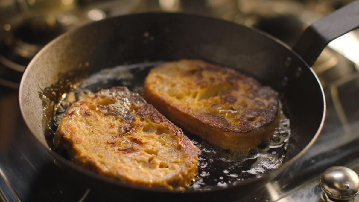 Nigella soaks bread in a Parmesan mixture for gratifying French toast.