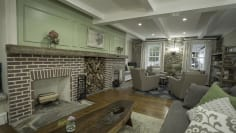 1713 Dueling Fireplaces